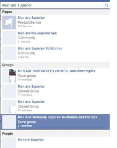 Sexist pages permitted by Facebook to exist.