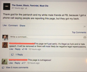 Examples of racism and sexism on that page.